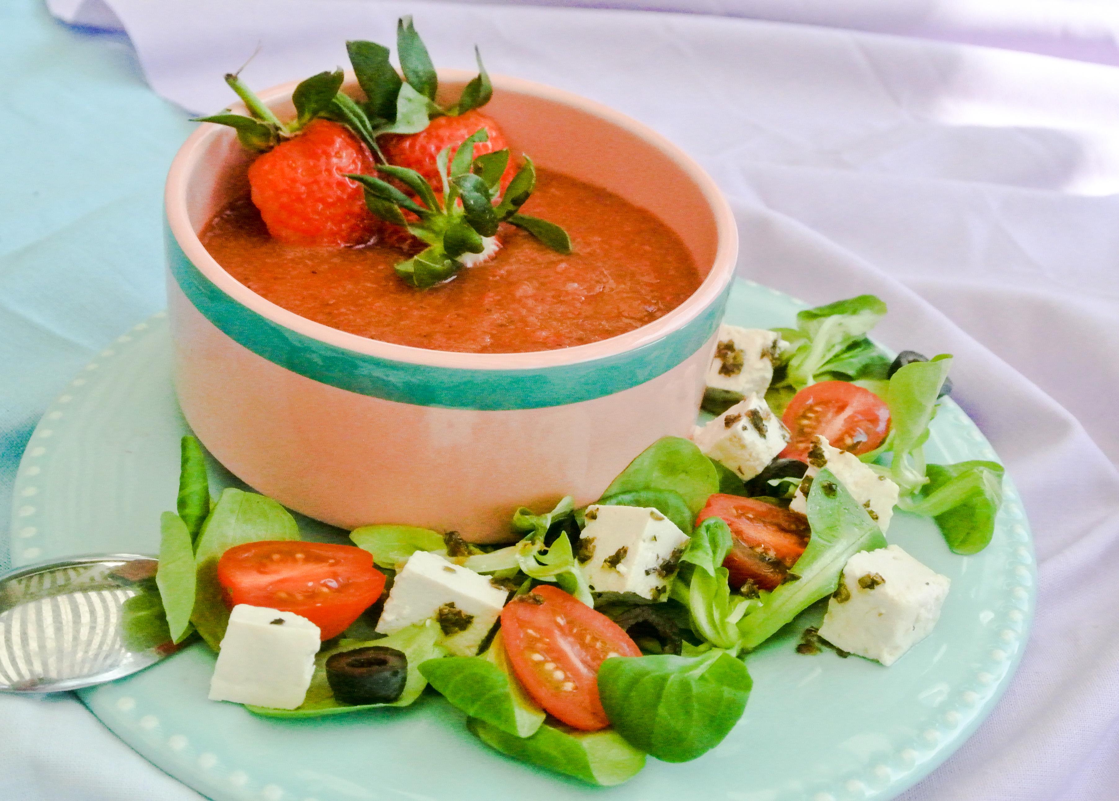 Aardbeien gazpacho